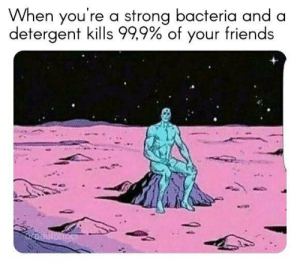 melonmemes:  99.9 percent: When you're a strong bacteria and a  detergent kills 999%of your friends melonmemes:  99.9 percent