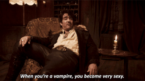 Sexy, Target, and Tumblr: When you're a vampire, you become very sexy. movie-gifs:   What We Do in the Shadows (2014) directed by Taika Waititi  Jemaine Clement