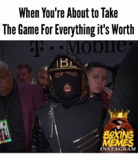 Instagram, Mayweather, and Memes: When You're About to Take  The Game For Everything it's Worth  INSTAGRAM Get Rich Game Plan 🤑 mayweathermcgregor mayweather mcgregor