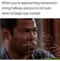 Eye, Sin, and Asi: When you're approaching someone in  a long hallway and you're not sure  when to begin eye contact  1ae/n  asi  sin(180/n)  90.0  00.  ecen  el  esin