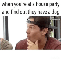 Dogs, Mtv, and Party: when you're at a house party  and find out they have a doo  emtv  @Daddyissues My fav thing about dogs is how loyal they are unlike all my exes.... tune into a new season of @exonthebeach on @mtv at 8pm tonight!!! Lots of drama and lots of exes!! You're not gonna wanna miss it.