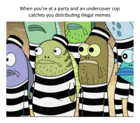 Fred_IRL: When you're at a party and an undercover cop  catches you distributing illegal memes Fred_IRL