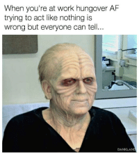 meirl: When you're at work hungover AF  trying to act like nothing is  wrong but everyone can tell...  DANKLAN meirl