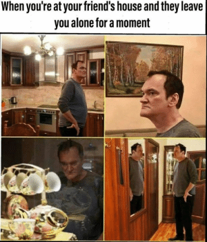 Friends House: When you're at your friend's house and they leave  you alone for a moment