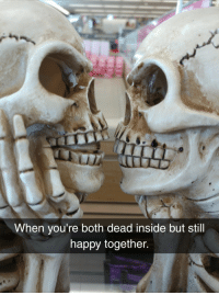 Halloween, Happy, and Decoration: When you're both dead inside but still  happy together this Halloween decoration