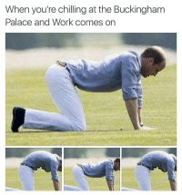 Buckingham: When you're chilling at the Buckingham  Palace and Work comes on