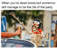 Funny, Life, and Lit: When you're dead inside but somehow  still manage to be the life of the party Yo deadass this party is lit💀🔥