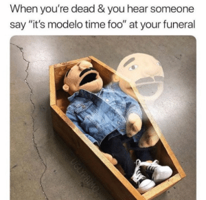 "Meme, Memes, and Time: When you're dead & you hear someone  say ""it's modelo time foo"" at your funeral 6ix9ine should NOT have his meme page @ifunny it's too sexual & offensive 😂🌈 @ifunny"