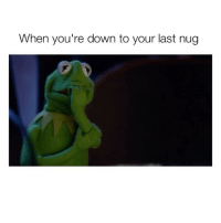Words cannot describe this more perfectly 😅 (@kushcomedy420): When you're down to your last nug Words cannot describe this more perfectly 😅 (@kushcomedy420)