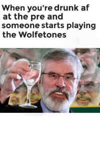 ~Dirty Dev: When you're drunk af  at the pre and  someone starts playing  the Wolfetones ~Dirty Dev