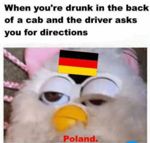Dank, Drunk, and Memes: When you're drunk in the back  of a cab and the driver asks  you for directions  Poland. ww2 uber by xxx_DaNkMeMeR_xxx09 MORE MEMES