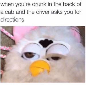meirl: when you're drunk in the back of  a cab and the driver asks you for  directions meirl