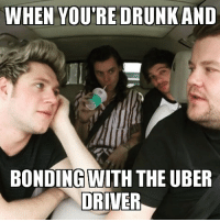 Uber, Karaoke, and Uber Driver: WHEN YOU'RE DRUNKAND  BONDING WITH THE UBER  DRIVER Any @uber ride can be a carpool karaoke if you try hard enough!