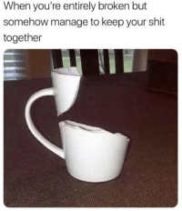 Shit, Http, and Strong: When you're entirely broken but  somehow manage to keep your shit  together Stay strong for 2019 via /r/wholesomememes http://bit.ly/2BCGbrx