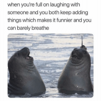 Note the prominent double chins: when you're full on laughing with  someone and you both keep adding  things which makes it funnier and you  can barely breathe Note the prominent double chins