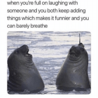 Memes, 🤖, and Can: when you're full on laughing with  someone and you both keep adding  things which makes it funnier and you  can barely breathe https://t.co/IiHnnl6KXd