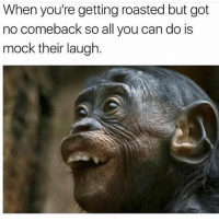 The accuracy 😂😂💀: When you're getting roasted but got  no comeback so all you can do is  mock their laugh The accuracy 😂😂💀