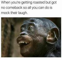 @hilarious.ted is a must follow for all animal lovers: When you're getting roasted but got  no comeback so all you can do is  mock their laugh. @hilarious.ted is a must follow for all animal lovers