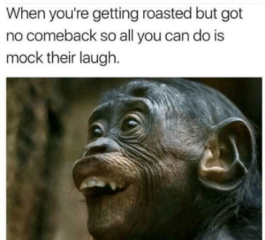 Dank, Memes, and Target: When you're getting roasted but got  no comeback so all you can do is  mock their laugh. Who can relate? by stomach-rolls MORE MEMES