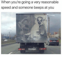 36 Funniest Pictures That Will Guarantee To Make You Laugh: When you're going a very reasonable  speed and someone beeps at you  020371 178 36 Funniest Pictures That Will Guarantee To Make You Laugh