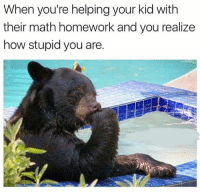 Dank, Lol, and Math: When you're helping your kid with  their math homework and you realize  how stupid you are. lol