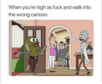 Cartoon, Fuck, and Nazi: When you're high as fuck and walk into  the wrong cartoon. Unsuspecting man accidentaly walks into a nazi meeting (1943)