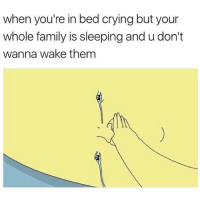 April, Them, and Wake: when you're in bed crying but your  whole family is sleepingand u don't  wanna wake them HAEHHEJEKISIIS AFTER SAD MOVIES AFTER YOUR LIE IN APRIL 😭😭😩😩😩😩😩