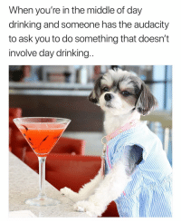 You gotta lot of nerve Susan😤 PicVia @tinkerbellethedog girlsthinkimfunnytwitter saturatedsaturday daydranks pupper: When you're in the middle of day  drinking and someone has the audacity  to ask you to do something that doesn't  involve day drinking You gotta lot of nerve Susan😤 PicVia @tinkerbellethedog girlsthinkimfunnytwitter saturatedsaturday daydranks pupper