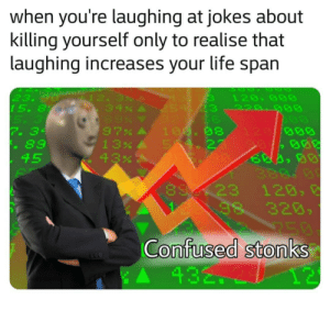 you got played son: when you're laughing at jokes about  killing yourself only to realise that  laughing increases your life span  Higmanshukhodke  12.3  34%A  89x  97%  13  43%  120 00  228988  23. 9  15.8  5.3  7.3  89  45  254, 23  129088  160.08  SA4.22  380.8  120,  89 423  98  320  Confused stonks  432.  12 you got played son