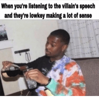 Tumblr, Blog, and Http: When you're listening to the villain's speech  and they're lowkey making a lot of sense charlesoberonn: