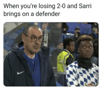 Hudson-Odoi was actually not having it ✋😂👌 Sarri Chelsea CHO: When you're losing 2-0 and Sarri  brings on a defender Hudson-Odoi was actually not having it ✋😂👌 Sarri Chelsea CHO
