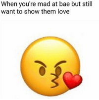 I NEED THIS EMOJI: When you're mad at bae but still  want to show them love I NEED THIS EMOJI