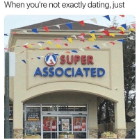 Dating, Funny, and Free: When you're not exactly dating, just  SUPER  ASSOCIATED  free  wi On the cusp of being offish.