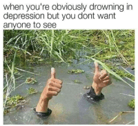 "Memes, Depression, and Http: when you're obviously drowning in  depression but you dont want  anyone to see <p>Everything is fine via /r/memes <a href=""http://ift.tt/2DCjggo"">http://ift.tt/2DCjggo</a></p>"