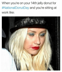 About to be nationaldiabetesday if I don't chill😳🍩🍩❤️ girlsthinkimfunnytwitter nationaldonutday fridayfeels: When you're on your 14th jelly donut for  #NationalDonutDay and you're sitting at  work like: About to be nationaldiabetesday if I don't chill😳🍩🍩❤️ girlsthinkimfunnytwitter nationaldonutday fridayfeels