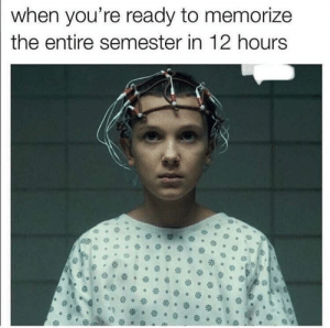 Memes, 🤖, and Youre: when you're ready to memorize  the entire semester in 12 hours