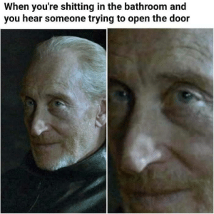awesomesthesia:  Peace was never an option: When you're shitting in the bathroom and  you hear someone trying to open the door awesomesthesia:  Peace was never an option