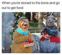Food, Kylie Jenner, and Memes: When you're stoned to the bone and go  out to get food Omg you won't believe the naughty video Kylie Jenner just posted on @femalesproblems story 😻👅. Hurry and watch before insta removes it