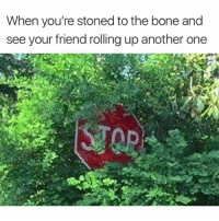 Another One, Gooo, and Weed: When you're stoned to the bone and  see your friend rolling up another one ••••• STOP STO ST S G GO GOO GOOO