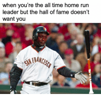 When is Barry Bonds getting in? https://t.co/WC4BKe5DM9: when you're the all time home run  leader but the hall of fame doesn't  want you  tr  92 When is Barry Bonds getting in? https://t.co/WC4BKe5DM9