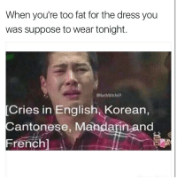 Every Fucking year I think a body con will be ok on me for today. BABES you can't get away with a body con on the best of days, not the day after Christmas. Fucking teletubie.: When you're too fat for the dress you  was suppose to wear tonight.  @North Witch69  Cries in English, Korean,  Cantonese, Mandarin and  French] Every Fucking year I think a body con will be ok on me for today. BABES you can't get away with a body con on the best of days, not the day after Christmas. Fucking teletubie.