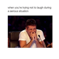 Funny, Situations, and Yours: when you're trying not to laugh during  a serious situation howifeelwhen