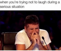 Dank, Laughing, and Seriously: when you're trying not to laugh during a  serious situation