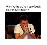 Memes, 🤖, and Trying Not to Laugh: When you're trying not to laugh  in a serious situation