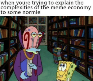 Meme Economy: when youre trying to explain the  complexities of the meme economy  to some normie