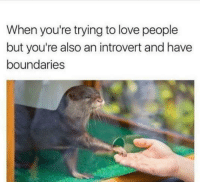 """Introvert, Love, and Memes: When you're trying to love people  but you're also an introvert and have  boundaries <p>Now go away via /r/memes <a href=""""https://ift.tt/2JhcAFB"""">https://ift.tt/2JhcAFB</a></p>"""