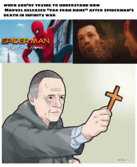 Reddit, Spider, and SpiderMan: WHEN YOU'RE TRYING TO UNDERSTAND HOW  MARVEL RELEASED IFAR FROM HOME AFTER SPIDERMANIS  DEATH IN INFINITY WAR  SPIDER MAN  Home  wikiHow