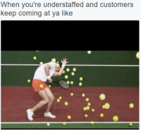 Coning: When you're understaffed and customers  kp coning at ya lik