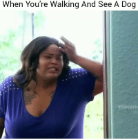 Shout out to all the dog lovers😂😂💀 👉Tag a friend👉 Follow (@soflo) for more laughs: When You're Walking And See A Dog  Shout out to all the dog lovers😂😂💀 👉Tag a friend👉 Follow (@soflo) for more laughs