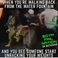 😂😂😂 Don't touch it... viralcypher funniest15seconds @gymfailnation Email: funniest15seconds@yahoo.com Website : www.viralcypher.com: WHEN YOU'RE WALKING BACK  FROM THE WATER FOUNTAIN  GYM  NATION  ON AND YOU SEE SOMEONE START  UNRACKING YOUR WEIGHTS 😂😂😂 Don't touch it... viralcypher funniest15seconds @gymfailnation Email: funniest15seconds@yahoo.com Website : www.viralcypher.com